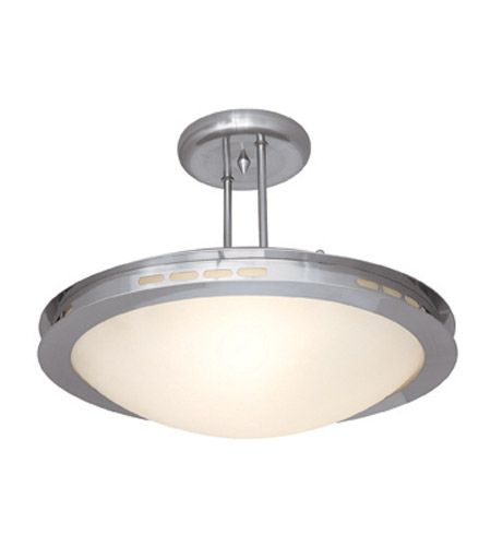 Access Lighting Eros 1 Light Semi-Flush in Brushed Steel 50084-BS/OPL photo