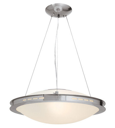 Access Lighting Eros 1 Light Pendant in Brushed Steel 50088-BS/OPL photo