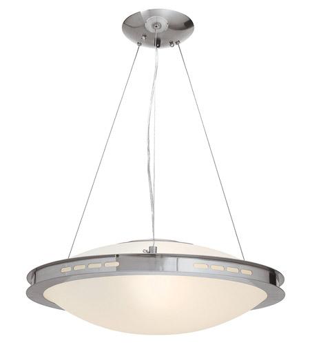 Access Lighting Eros 1 Light Pendant in Brushed Steel 50088-BS/OPL photo
