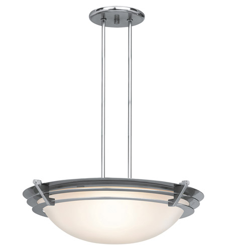 Access 50090-BS/FST Saturn 1 Light 19 inch Brushed Steel Pendant Ceiling Light in Halogen photo