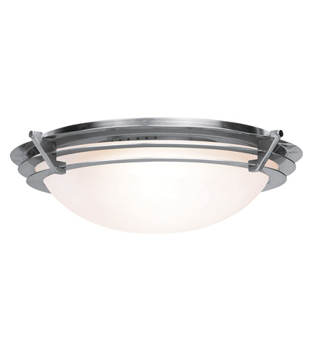 Access 50091-BS/FST Saturn 1 Light 10 inch Brushed Steel Flush Mount Ceiling Light in Halogen photo