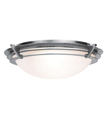 Access Lighting Saturn 1 Light Flush Mount in Brushed Steel 50092-BS/FST photo
