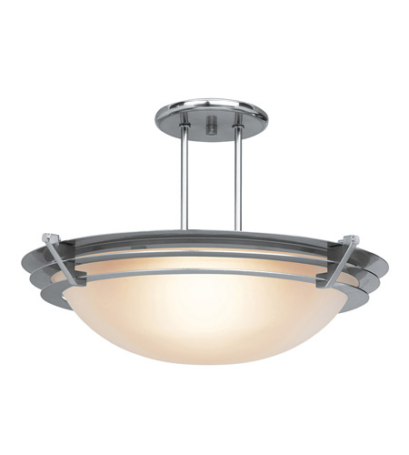 Access Lighting Saturn 1 Light Semi-Flush in Brushed Steel 50094-BS/FST photo