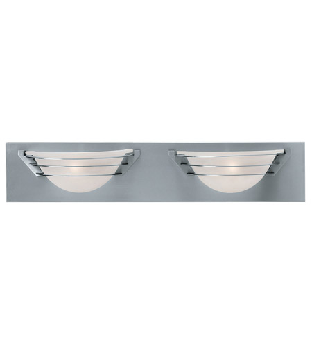 Access Lighting Saturn 2 Light Vanity in Brushed Steel 50097-BS/FST photo