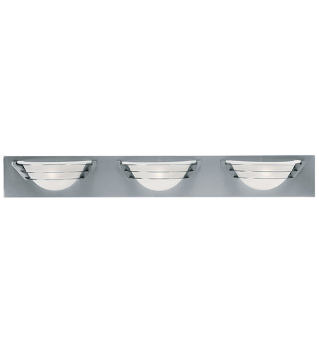 Access Lighting Saturn 3 Light Vanity in Brushed Steel 50098-BS/FST photo