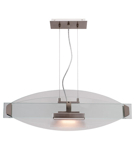 Access Lighting Phoebe 1 Light Pendant in Brushed Steel 50104-BS/CLR photo