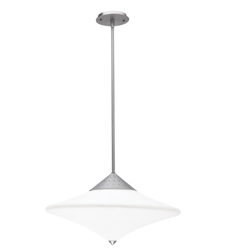 Access Lighting Haley 3 Light Semi-Flush or Pendant in Brushed Steel 50114-BS/OPL photo
