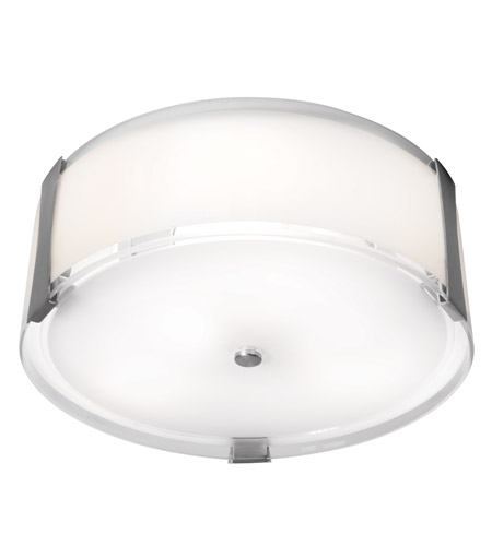 Access C50120BSOPLEN1218BS Tara 2 Light 14 inch Brushed Steel Flush Mount Ceiling Light photo