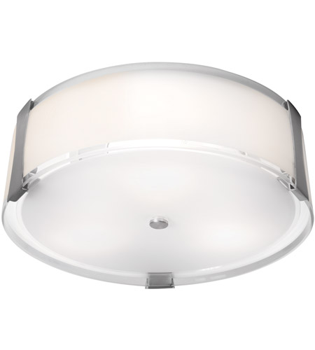 Access 50121-BS/OPL Tara 3 Light 18 inch Brushed Steel Flush Mount Ceiling Light in Incandescent photo