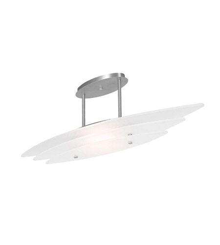 Access Lighting Delfina 1 Light Pendant in Brushed Steel 50125-BS/FST photo
