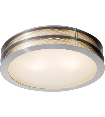 Access 50131LED-BS/FST Access Lighting Iron 1 Light Flush Mount in Brushed Steel 50131LED-BS/FST  photo