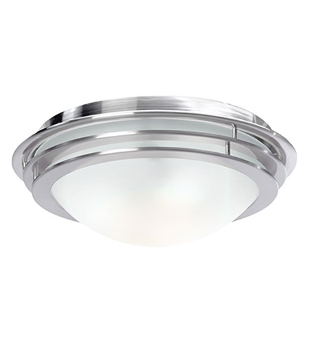 Access Lighting Genesis 2 Light Flush Mount in Brushed Steel 50134-BS/FST photo