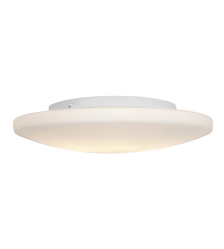Access 50162-WH/OPL Orion 3 Light 19 inch White Flush Mount Ceiling Light in Incandescent photo