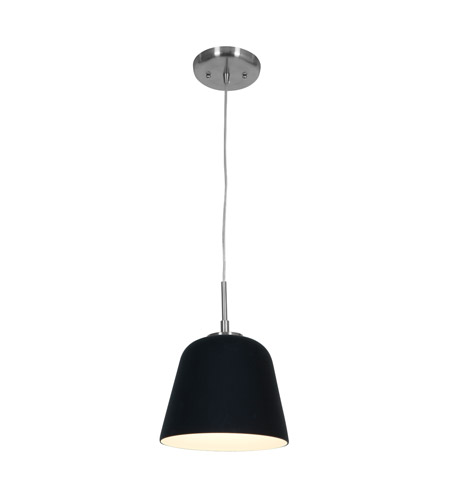 Access Lighting Aire 1 Light Silk Glass Pendant in Brushed Steel with BL Glass 50169-BS/BL photo