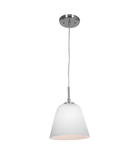 Access 50169-BS/OPL Aire 1 Light 8 inch Brushed Steel Pendant Ceiling Light photo