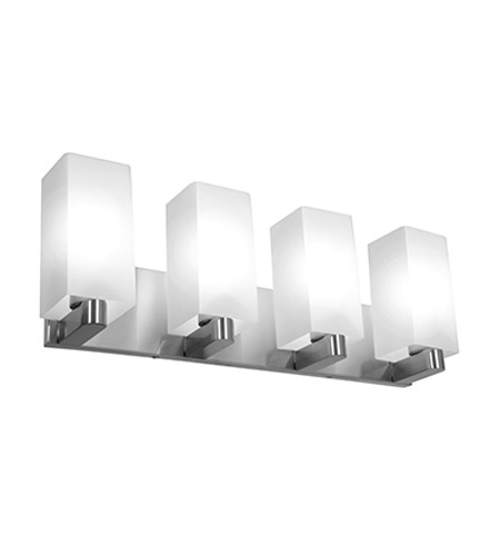 Access Lighting Archi 4 Light Wall/Vanity Fixtures in Brushed Steel with Opal Glass 50178-BS/OPL photo
