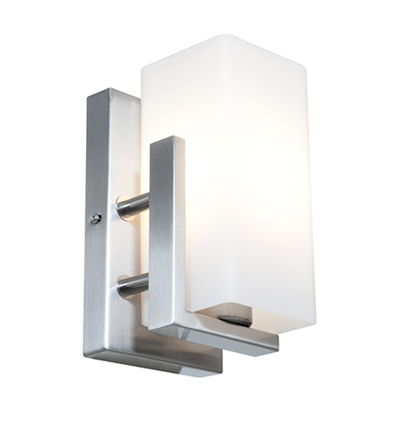 Access Lighting Erin 1 Light Wall/Vanity Fixtures in Brushed Steel with Opal Glass 50192-BS/OPL photo