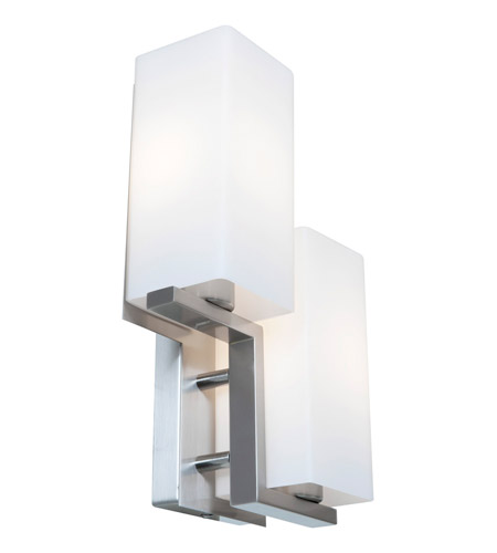 Access Lighting Erin 2 Light Wall/Vanity Fixtures in Brushed Steel ...