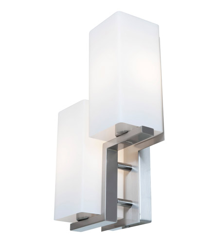 Access Lighting Erin 2 Light Wall/Vanity Fixtures in Brushed Steel with Opal Glass 50195-BS/OPL photo