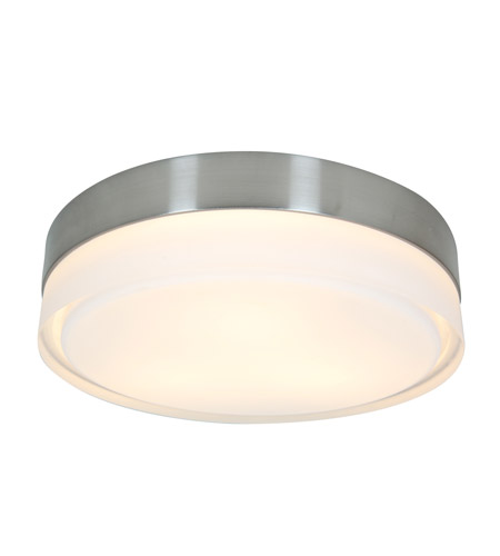 Access Lighting Geo 3 Light Flushmount in Brushed Steel with CLFR Glass 50201-BS/CLFR photo