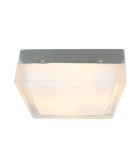 Access Lighting Geo 2 Light Flushmount in Brushed Steel with CLFR Glass 50203-BS/CLFR photo