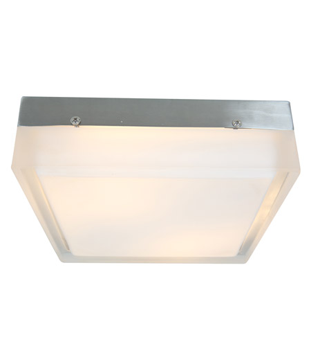Access Lighting Geo 3 Light Flushmount in Brushed Steel with CLFR Glass 50204-BS/CLFR photo