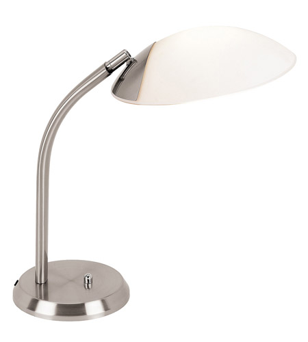 Access Lighting Tethys 1 Light Table Lamp in Brushed Steel 50400-BS/OPL photo