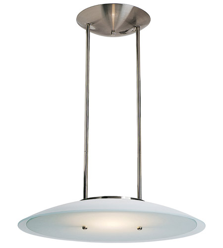 Access Lighting Argon 1 Light Pendant in Brushed Steel 50434-BS/FST photo