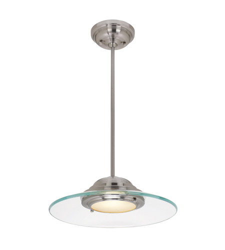 Access 50441LED-BS/8CL Access Lighting Phoebe 1 Light Convertible Semi Flush Pendant in Brushed Steel with 8mm Clear Glass Glass 50441LED-BS/8CL  photo