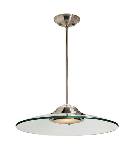 Access 50444LED-BS/8CL Access Lighting Phoebe 1 Light Convertible Semi Flush Pendant in Brushed Steel with 8mm Clear Glass Glass 50444LED-BS/8CL  photo