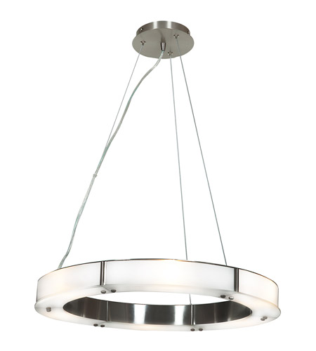Access Lighting Oracle 6 Light Chandelier in Brushed Steel with Frosted Glass 50465-BS/FST photo