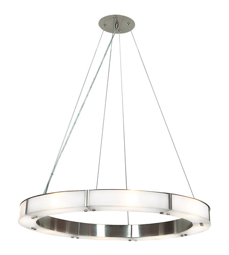 Access 50466LEDD-BS/FST Oracle LED 28 inch Brushed Steel Chandelier Ceiling Light photo