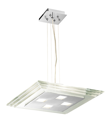 Access Lighting Silica 4 Light Pendant in Chrome 50472-CH/CCL photo