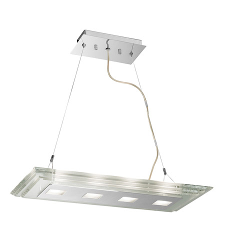 Access Lighting Silica 4 Light Pendant in Chrome 50473-CH/CCL photo
