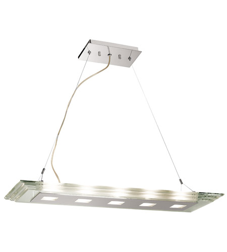 Access Lighting Silica 5 Light Pendant in Chrome 50474-CH/CCL photo