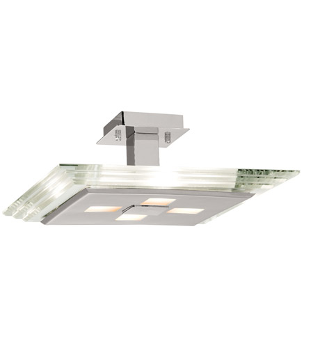 Access Lighting Silica 4 Light Semi-Flush in Chrome 50475-CH/CCL photo