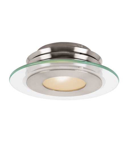 Access 50480LED-BS/CFR Access Lighting Helius 1 Light Flush Mount in Brushed Steel with Clear Frosted Glass 50480LED-BS/CFR  photo