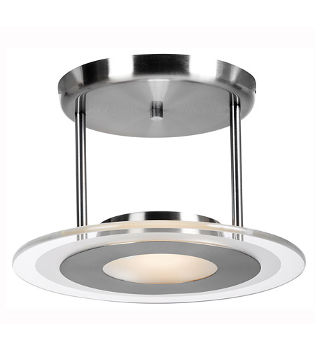 Access 50481-BS/CFR Helius 1 Light 12 inch Brushed Steel Semi-Flush Ceiling Light photo