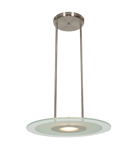 Access 50484-BS/CFR Helius 1 Light 20 inch Brushed Steel Pendant Ceiling Light photo