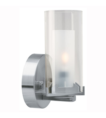 Access Lighting Proteus 1 Light Sconce in Brushed Steel 50505-BS/FRC photo