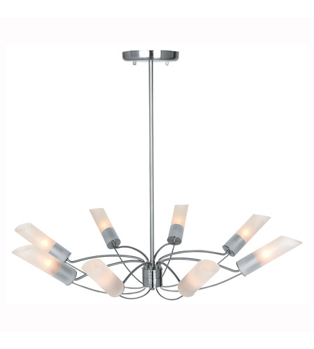 Access Lighting Solar 8 Light Chandelier in Brushed Steel 50509-BS/FST photo