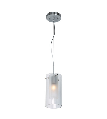 Access Lighting Proteus 1 Light Pendant in Brushed Steel 50514-BS/FRC