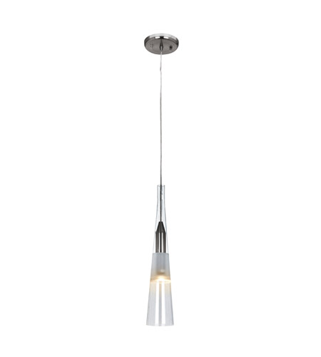Access Lighting Genesis 1 Light Pendant in Brushed Steel 50518-BS/CLF photo