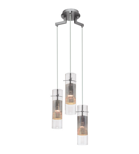 Access 50526-BS/CLM Spartan 3 Light 3 inch Brushed Steel Pendant Ceiling Light photo