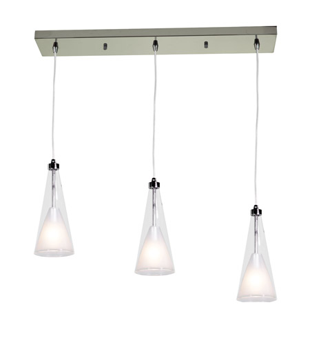 Access Lighting Icicle 3 Light Pendant in Chrome 50544-CH/CLOP photo