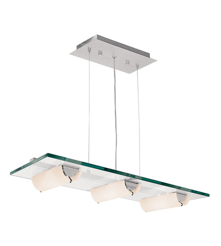 Access Lighting Phoebe 6 Light Pendant in Aluminum 50552-ALU/8CL photo