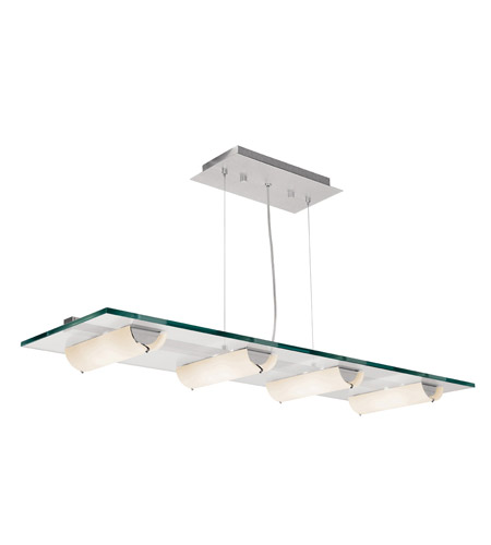 Access Lighting Phoebe 8 Light Pendant in Aluminum 50553-ALU/8CL photo