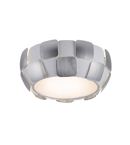 Access 50900-WH/CH Layers 4 Light 14 inch White Flush Mount Ceiling Light in Chrome, Incandescent photo