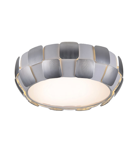 Access 50901-WH/CH Layers 4 Light 18 inch White Flush Mount Ceiling Light in Chrome, Incandescent photo