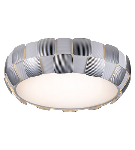 Access 50902LEDD-WH/CH Layers LED 22 inch White Flush Mount Ceiling Light in Chrome photo